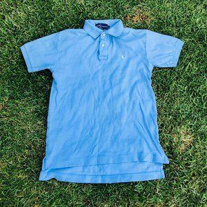 Vintage Polo Ralph Lauren Blue Knit Polo Shirt M